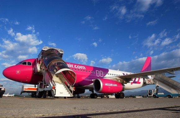 "Wizz air kompanijos nuotr. /""Wizz air"" lėktuvas"