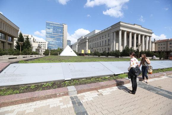 Juliaus Kalinsko / 15min nuotr./Gėlynu paverstas Seimo fontanas 2014 metais