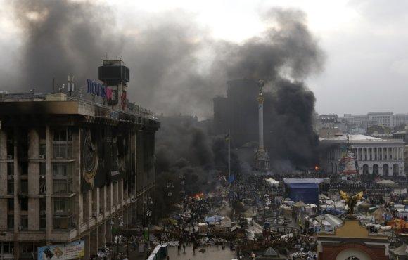 """""""Reuters""""/""""Scanpix"""" nuotr./Susirėmimai Kijeve 2014-ųjų vasarį"""