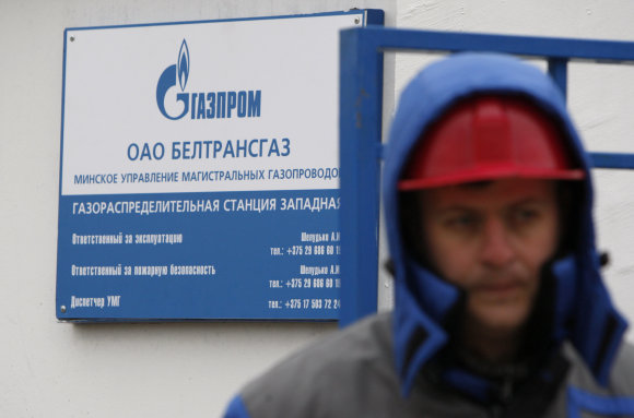 """""""Scanpix""""/""""RIA Novosti"""" nuotr./Rusiškos dujos Baltarusijoje"""