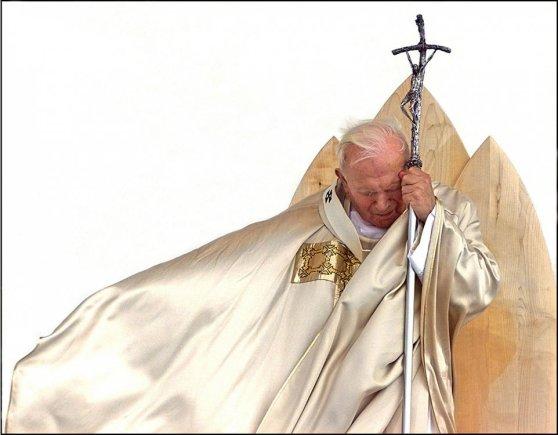 """AFP/""""Scanpix"""" nuotr./Popiežius Jonas Paulius II 1999-aisiais"""