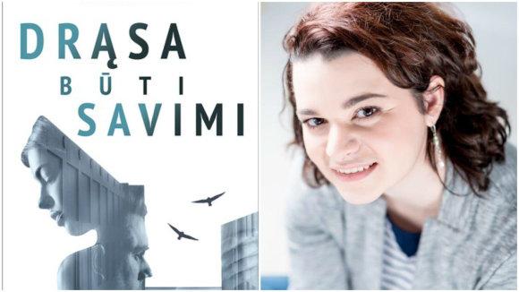 15min koliažas/Kamila Golod ir jos knygos viršelis.