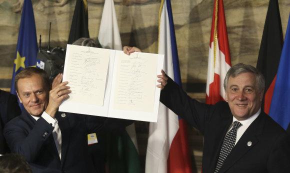 """""""Reuters""""/""""Scanpix"""" nuotr./Pasirašyta nauja Romos deklaracija"""