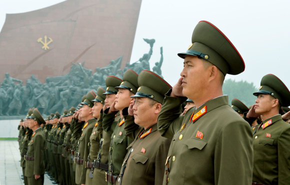 """""""Reuters""""/""""Scanpix"""" nuotr./Šiaurės Korėja mini valstybės įkūrimo metines"""