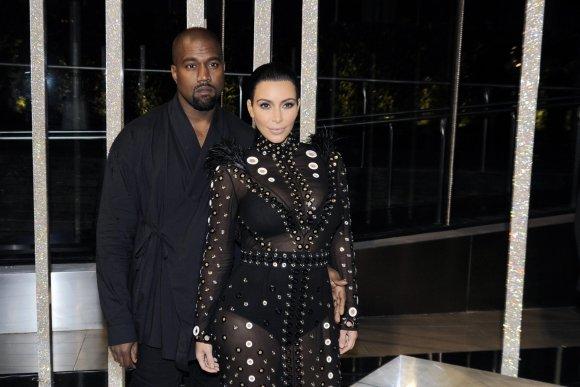 """Scanpix""/""Sipa USA"" nuotr./Kanye Westas ir Kim Kardashian"