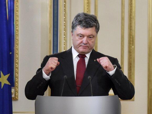 """""""Scanpix""""/""""RIA Novosti"""" nuotr./Ukrainos prezidentas Petro Porošenka"""