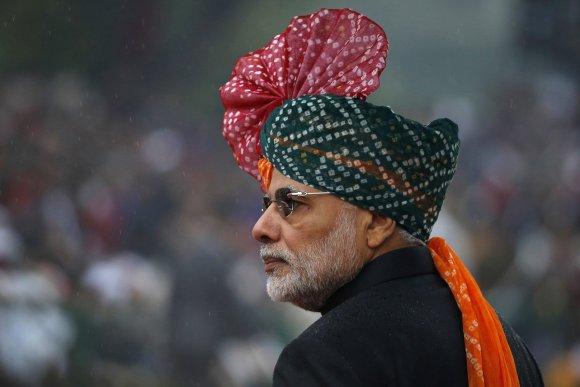 """Reuters""/""Scanpix"" nuotr./Indijos ministras pirmininkas Narenda Modi"