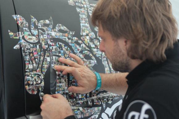 Edgaro Buiko nuotr./Vyčio mozaika and Benedikto Vanago Dakarui skirto bolido