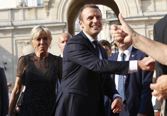 """Scanpix""/AP nuotr./Prancūzijos prezidentas Emmanuelis Macronas"