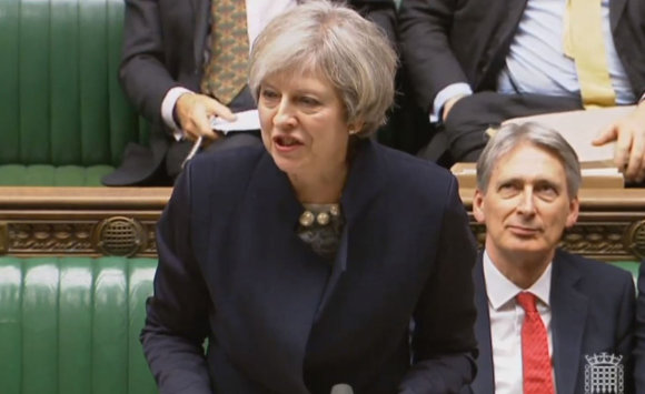 """Scanpix""/""PA Wire""/""Press Association Images"" nuotr./Theresa May."