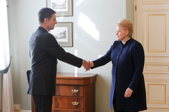 Juliaus Kalinsko/15min.lt nuotr./Gediminas Grina ir Dalia Grybauskaitė