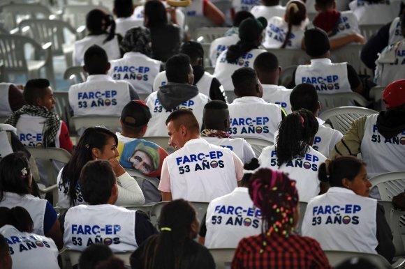 """AFP/""""Scanpix"""" nuotr./Kolumbijos FARC sukilėliai"""