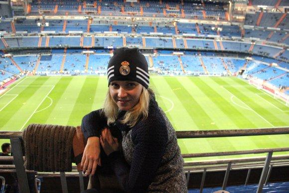 Asmeninio albumo nuotr./Santiago Bernabéu stadione Madride, Ispanijoje