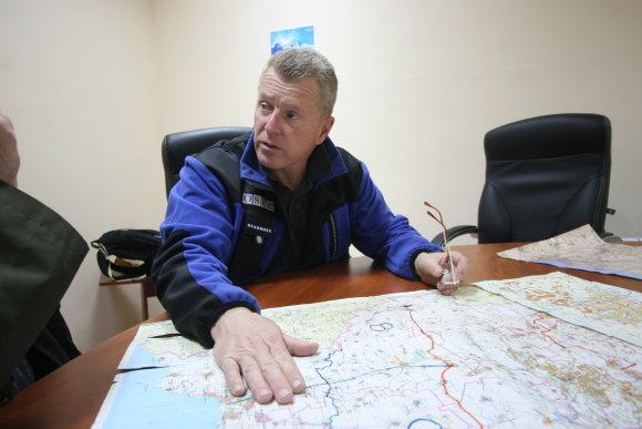 Alvydo Januševičiaus nuotr./Jamesas Paw, ESBO stebėtojas Mariupolyje