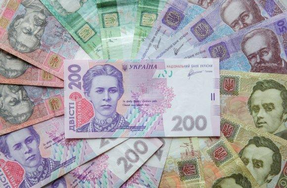 """""""Scanpix"""" nuotr./Ukrainos grivinų banknotai"""