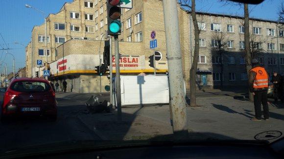 15min.lt skaitytojo Artūro nuotr./Avarija Vilniuje