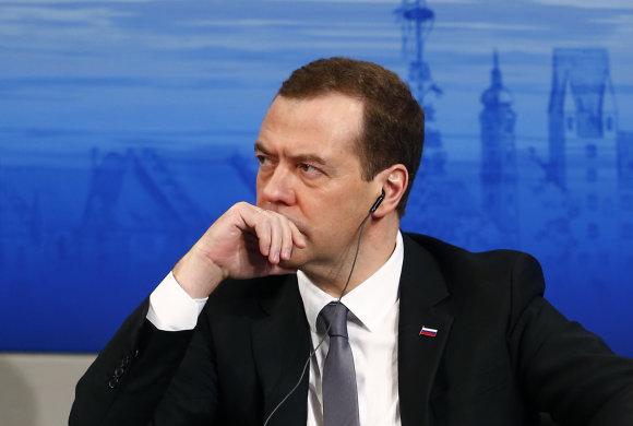 """""""Reuters""""/""""Scanpix"""" nuotr./Rusijos premjeras Dmitrijus Medvedevas"""