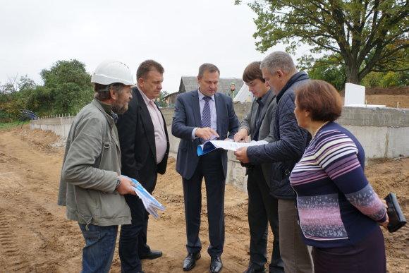Alytaus rajono savivaldybės nuotr./Pivašiūnuose statomi nauji senelių globos namai