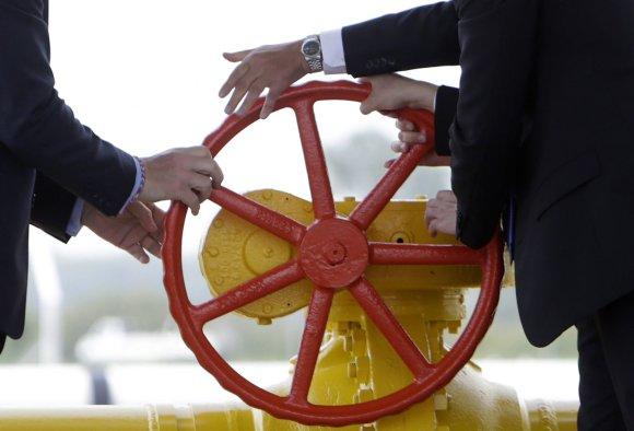 """""""Reuters""""/""""Scanpix"""" nuotr./Dujų tiekimo į Ukrainą iš Slovakijos paleidimo ceremonija"""