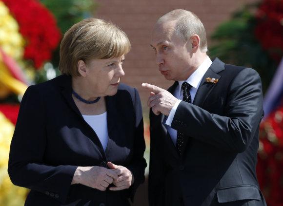 """Scanpix"" nuotr./Angela Merkel vieši Maskvoje"