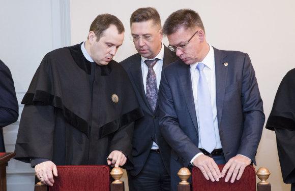 Luko Balandžio / 15min nuotr./Andrius Janukonis ir Linas Samuolis