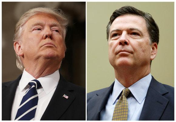 """""""Reuters""""/""""Scanpix"""" nuotr./Donaldas Trumpas ir Jamesas Comey"""