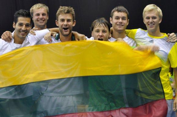 Organizatorių nuotr./Daviso taurė: akimirka iš dvikovos su bosniais