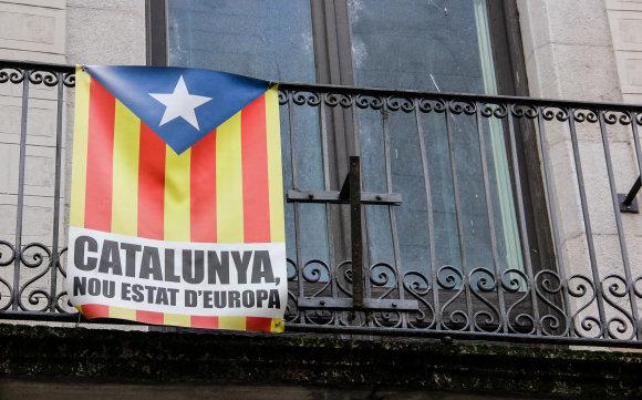 Karolinos Stažytės nuotr. / 15min.lt/Katalonijos vėliava