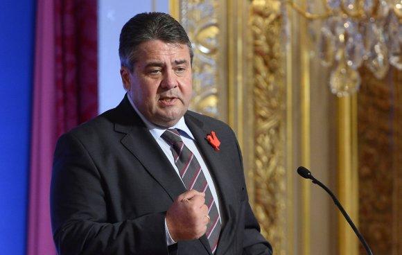 """AFP/""""Scanpix"""" nuotr./Vokietijos Vicekancleris Sigmaras Gabrielis"""