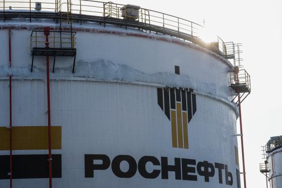 """Scanpix""/""RIA Novosti"" nuotr./""Rosneft"" naftos gavybos telkinys Krasnojarsko krašte"