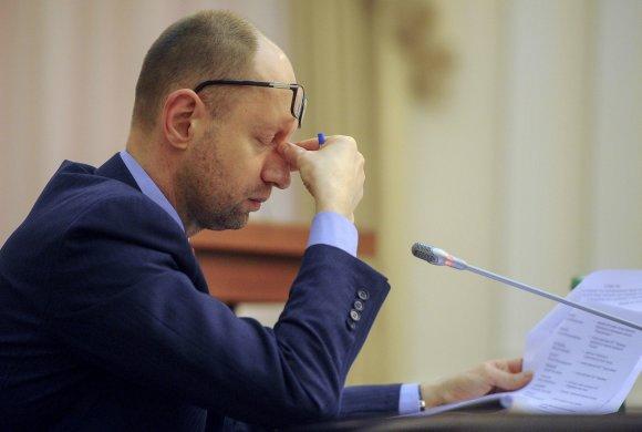 """""""Reuters""""/""""Scanpix"""" nuotr./Ukrainos premjeras Arsenijus Jaceniukas traukiasi iš pareigų"""