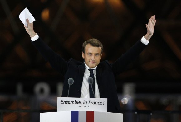 """""""Scanpix""""/AP nuotr./Naujuoju prezidentu tapo Emmanuelis Macronas"""