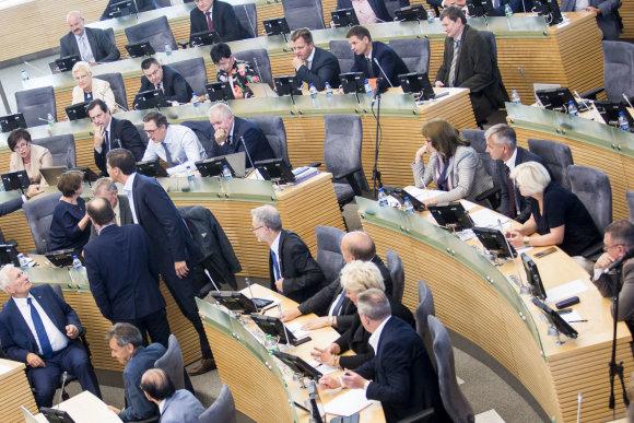 Luko Balandžio / 15min nuotr./Seimo plenarinis posėdis