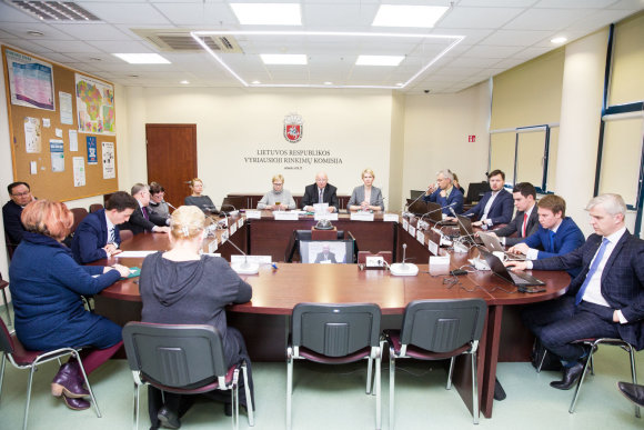Luko Balandžio / 15min nuotr./Vyriausiosios rinkimų komisijos posėdis