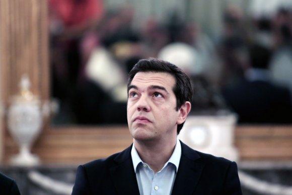 """AFP/""""Scanpix"""" nuotr./Graikijos premjeras Aleksis Cipras"""