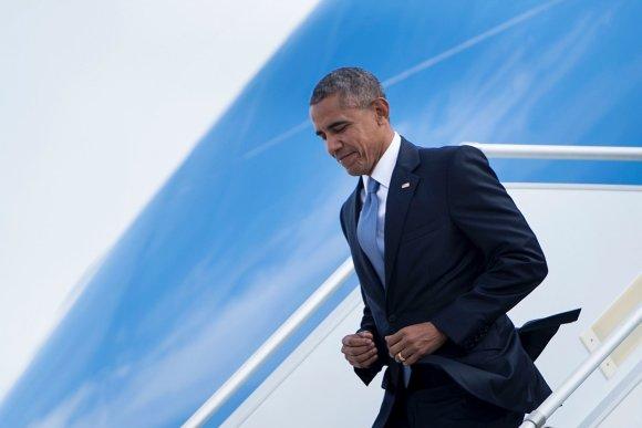 """AFP/""""Scanpix"""" nuotr./JAV prezidentas Obama atskrido į Atėnus"""