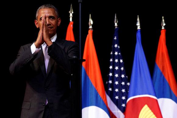 """""""Reuters""""/""""Scanpix"""" nuotr./Barackas Obama Azijos regione kaip prezidentas lankėsi paskutinį kartą"""