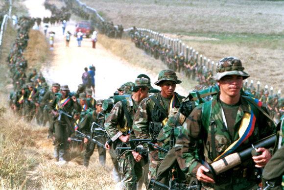 """Reuters""/""Scanpix"" nuotr./FARC sukilėliai 1999 metais"