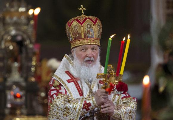 """""""Scanpix""""/AP nuotr./Rusijos stačiatikių bažnyčios vadovas, patriarchas Kirilas"""