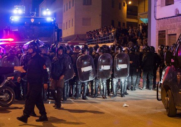 """AFP/""""Scanpix"""" nuotr./Protestas Maroke"""