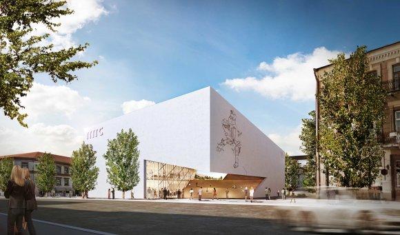 Vilniaus sav./Sauliaus Žiūros nuotr./Architektas Danielius Libeskindas Vilniuje pristatė Modernaus meno centro muziejaus pastato projektą