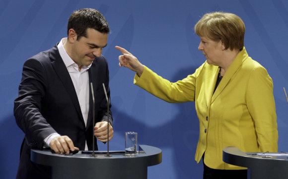 """Scanpix""/AP nuotr./Aleksis Cipras ir Angela Merkel"