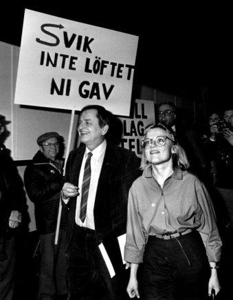"""Scanpix"" nuotr./Olofas Palme ir Anna Lindh 1980 m."