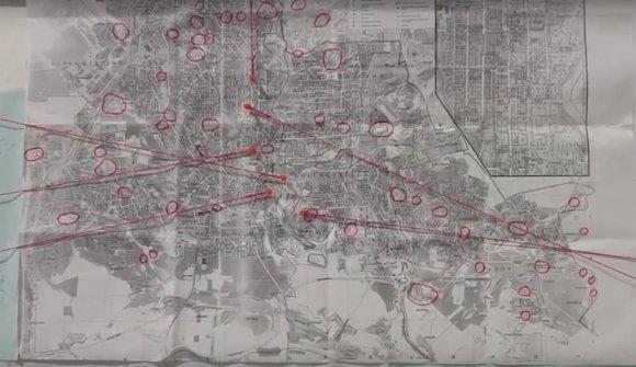 """Kadras iš """"YouTube""""/Donecko žemėlapis iš parodos """"Donecko sindromas"""""""