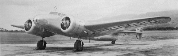 """Wikipedia.org nuotr./Amelios Earhart lėktuvas """"Lockheed Model 10 Electra"""", kuriuo ji skrido aplink pasaulį"""