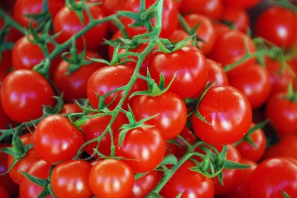 123rf.com nuotr. /Šiems nesaldiems vieno kąsnio pyragėliams labiausiai tiks vynuoginiai pomidorai.
