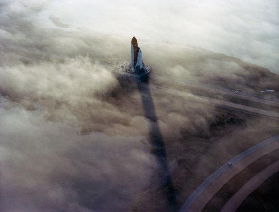 "NASA iliustr./Atidėtas ""Challenger"" skrydis 1982 m."