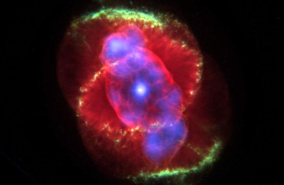 LEM iliustr./Katės Akies ūkas pro kosminį Hubble teleskopą./Hubble.com