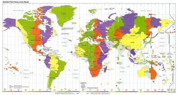 Žemės rutulys padalintas į 24 laiko juostas – nuo 0 iki 23./15min.lt