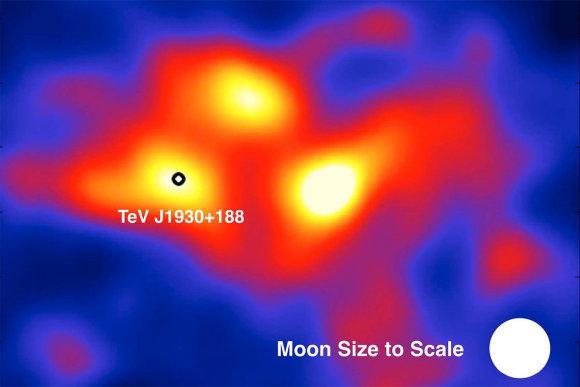 HAWC collaboration nuotr./Trys nauji HAWC rasti gama spindulių šaltiniai